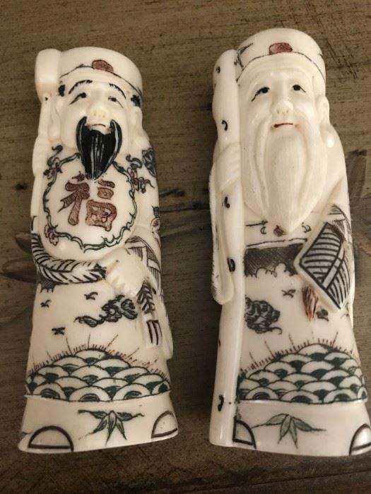Rare Antique Chinese Bone Carvings