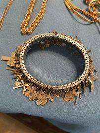Bracelet with lots of crosses