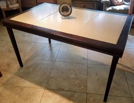 Mid Century Norquist Folding Table with leaf