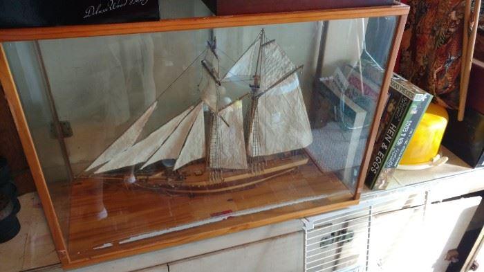 Vintage Nautical Shadow Box