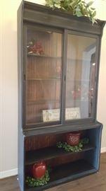 Antique store display beadboard cabinet