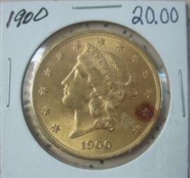 1900 Gold $20.00 Coin