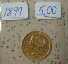 1897 Gold $5.00 Coin