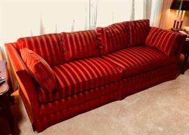 Henredon Velvet Mid Century Sofa