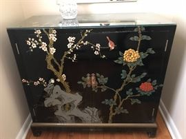 Black Lacquered Oriental Cabinet