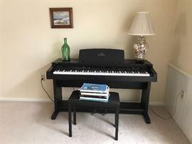Clavinova cvp-59s digital piano with stool and booklets