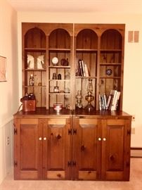 Pine Wall Units.  2 separate pieces.  Two are pictured here.  But 1, 2 or all 3