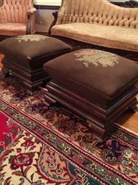 Pair of Empire Ottomans