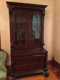 Large Empire Mahogany Secretary
