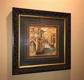 2 of 3 Venetian Artwork with Heavy Wood Frames