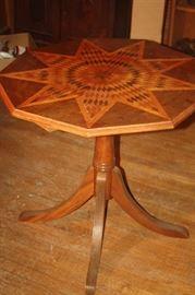 VINTAGE INLAID TABLE