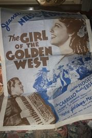 VINTAGE MOVIE POSTER ~ THE GIRL OF THE GOLDEN WEST