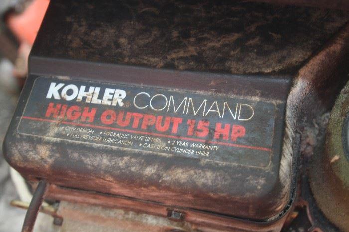"38 "" CUT ~ KOHLER 15 HP ENGINE TRACTOR"