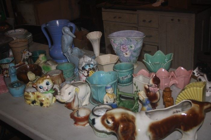 LOADS OF POTTERY  ~ MC COY , AMERICAN BISQUE , WELLER