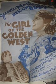 THE GIRL OF THE GOLDEN WEST MOVIE POSTER