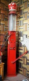 Vintage Crown Top Visible Gas Pump By Butler Manufacturing Company