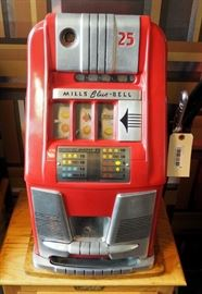 Mills Blue-Bell 25 Cent Manual Slot Machine Model# MLB7620 - 7905