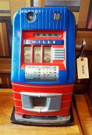 Mills 10 Cent Manual Slot Machine Model# MLB7618