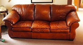 "Leather Sofa 42"" x 88"" x 36"""