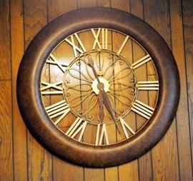 "Ridegway Decorative Metal Wall Clock 48"" Diameter"