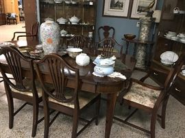 Finest Mahogany table and chairs
