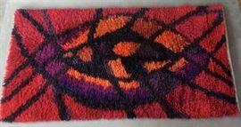 "Vintage Rya Scandinavian rug, 30"" x 60"""