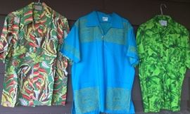 Just a few of the vintage Hawaiian & tropical shirts (size large)