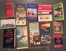 More late finds: Vintage transit maps, airline ephemera & a couple of railroad pieces