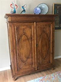 "Gorgeous storage/wardrobe armoire - 65"" high x 53"" wide x 26"" deep"