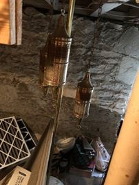 Floor to ceiling Arabian style lamp