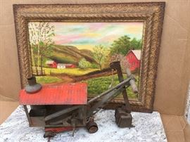 Antique pressed steel steamshovel