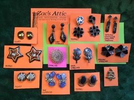 Small sample of costume earrings