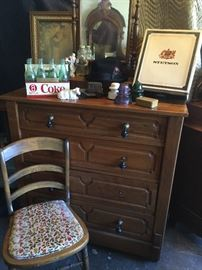 Another Victorian walnut dresser