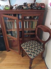 Bookcase & Balloon-back side chair (set of 4)