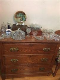 Majolica, Pattern glass & Ash dresser
