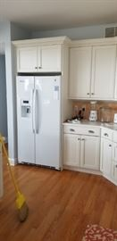 Brookhaven cabinetry detail; sorry, refrigerator not for sale.