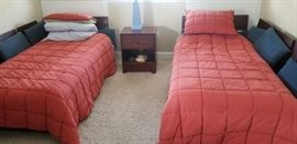 Twin beds & nightstand; matching dresser