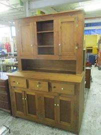 Pine step-back cupboard