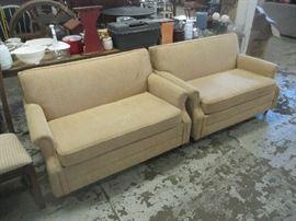 Pair of loveseat sofa sleepers