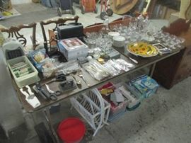 Glassware and household items