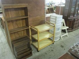 Bookshelves and organizer