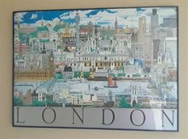 One of several posters depicting London