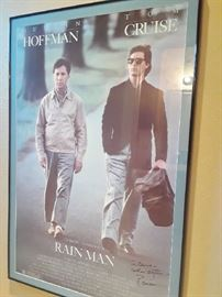 Autographed poster of the Rainman