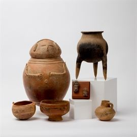South American / Pre-Columbian Tribal Pottery Collection Online Auction