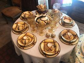 Vintage Vernonware Organdy Dinnerware