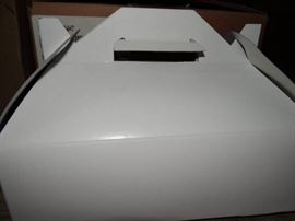 1 Case Of Eco White Gloss Lunch Box With Handle