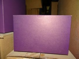 1 Case Of Purple Gift Boxes