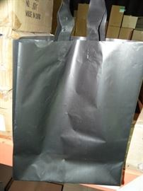 2 Case Of Frosted Black Shopping Bags