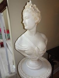 Italian Marble Bust with Marble Pedestal