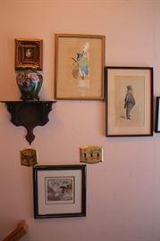Art, Wall Shelf and Decorative Urn